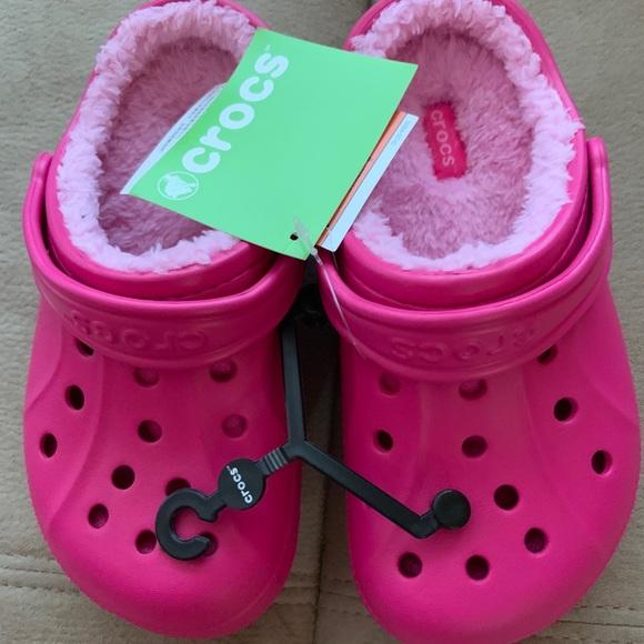 New Crocs Kids Girls Winter Clog Shoe
